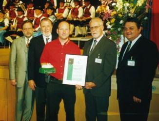 Heigl Fritz und Jury bei Europameisterschaft der Blasmusik