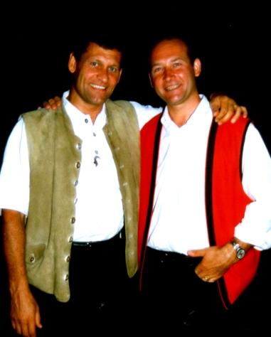 Franz Posch und Fritz Heigl bei der Strudengauer Messe im August 2000